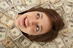 τα χρήματα χαμογελούν έξω Στοκ Φωτογραφίες