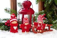 Τα Χριστούγεννα ή η νέα σύνθεση έτους με λίγο άτομο λογαριάζουν Στοκ Εικόνα