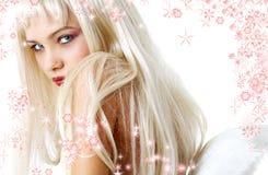 τα Χριστούγεννα αγγέλου απομόνωσαν το λευκό Στοκ φωτογραφία με δικαίωμα ελεύθερης χρήσης