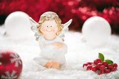 τα Χριστούγεννα αγγέλου απομόνωσαν το λευκό Στοκ Εικόνες