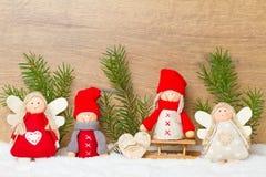 τα Χριστούγεννα αγγέλου απομόνωσαν το λευκό Στοκ φωτογραφίες με δικαίωμα ελεύθερης χρήσης