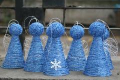 τα Χριστούγεννα αγγέλου απομόνωσαν το λευκό Στοκ Φωτογραφίες