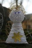 τα Χριστούγεννα αγγέλου απομόνωσαν το λευκό Στοκ εικόνες με δικαίωμα ελεύθερης χρήσης