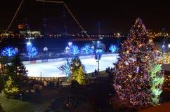 Τα Χριστούγεννα ανάβουν τη θαυμάσια φαντασία Στοκ φωτογραφία με δικαίωμα ελεύθερης χρήσης