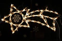 Τα Χριστούγεννα ανάβουν τον κομήτη Στοκ φωτογραφία με δικαίωμα ελεύθερης χρήσης
