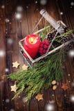 τα Χριστούγεννα ανασκόπησης πλίθας δημιούργησαν τη διακοσμητική εικόνα εικονογράφων Στοκ Εικόνα
