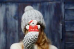Τα Χριστούγεννα αντέχουν στα χέρια Στοκ Εικόνες