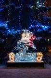 Τα Χριστούγεννα αντέχουν στην πόλη Στοκ Φωτογραφίες