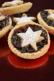 Τα Χριστούγεννα αστεριών κομματιάζουν τις πίτες Στοκ Εικόνα