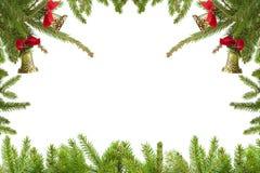Τα Χριστούγεννα διακλαδίζονται σύνορα Στοκ φωτογραφίες με δικαίωμα ελεύθερης χρήσης