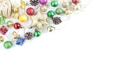 τα Χριστούγεννα διακοσμούν τις φρέσκες βασικές ιδέες διακοσμήσεων λευκό διακοπών διακοσμή& στοκ φωτογραφίες