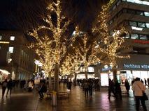 τα Χριστούγεννα διακοσμούν τις φρέσκες βασικές ιδέες διακοσμήσεων Αγορές Χριστουγέννων της Στουτγάρδης, Γερμανία στοκ εικόνες
