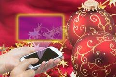 Τα Χριστούγεννα επιθυμούν την έννοια Στοκ Φωτογραφίες