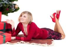 τα Χριστούγεννα ευτυχή π&alp Στοκ φωτογραφίες με δικαίωμα ελεύθερης χρήσης