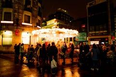 Τα Χριστούγεννα εύθυμα πηγαίνουν γύρω από - Vigo Στοκ φωτογραφία με δικαίωμα ελεύθερης χρήσης