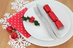 τα Χριστούγεννα διακοσμούν τις φρέσκες βασικές ιδέες γευμάτων Στοκ εικόνες με δικαίωμα ελεύθερης χρήσης