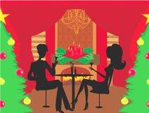 τα Χριστούγεννα διακοσμούν τις φρέσκες βασικές ιδέες γευμάτων Στοκ φωτογραφίες με δικαίωμα ελεύθερης χρήσης