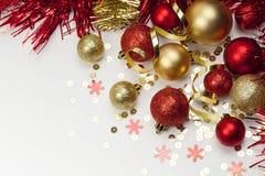 τα Χριστούγεννα διακοσμούν τις φρέσκες βασικές ιδέες διακοσμήσεων νέο έτος Στοκ Εικόνες