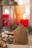 τα Χριστούγεννα διακοσμούν τις φρέσκες βασικές ιδέες διακοσμήσεων στοκ εικόνα με δικαίωμα ελεύθερης χρήσης