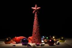 τα Χριστούγεννα διακοσμούν τις φρέσκες βασικές ιδέες διακοσμήσεων Στοκ Εικόνα