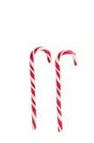 τα Χριστούγεννα διακοσμούν τις φρέσκες βασικές ιδέες διακοσμήσεων Παραδοσιακός κάλαμος καραμελών διακοπών που απομονώνεται επάνω Στοκ Εικόνα