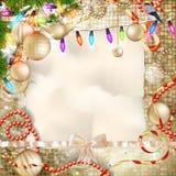 τα Χριστούγεννα διακοσμούν τις φρέσκες βασικές ιδέες διακοσμήσεων 10 eps Στοκ Εικόνα