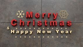 Τα Χριστούγεννα και το νέο υπόβαθρο έτους, τρισδιάστατα δίνουν Στοκ Εικόνα