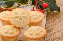 Τα Χριστούγεννα κομματιάζουν τις πίτες Στοκ Εικόνα