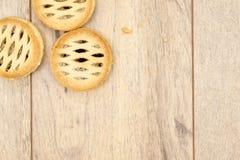 Τα Χριστούγεννα κομματιάζουν τις πίτες Στοκ εικόνες με δικαίωμα ελεύθερης χρήσης