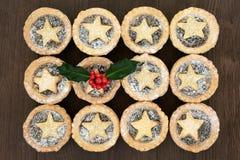 Τα Χριστούγεννα κομματιάζουν τις πίτες Στοκ Φωτογραφίες