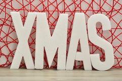 Τα Χριστούγεννα λέξης Στοκ εικόνα με δικαίωμα ελεύθερης χρήσης