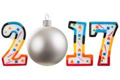 Τα Χριστούγεννα λογαριάζουν το 2017 Στοκ Εικόνες