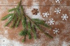 Τα Χριστούγεννα οι αριθμοί που έγιναν από τη σκόνη κακάου Στοκ εικόνα με δικαίωμα ελεύθερης χρήσης