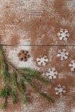 Τα Χριστούγεννα οι αριθμοί που έγιναν από τη σκόνη κακάου Στοκ εικόνες με δικαίωμα ελεύθερης χρήσης