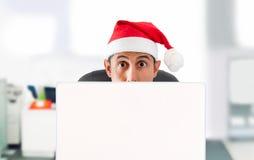 Τα Χριστούγεννα προσφέρουν on-line Στοκ εικόνα με δικαίωμα ελεύθερης χρήσης