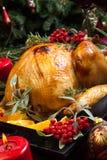 Τα Χριστούγεννα Τουρκία προετοιμάστηκαν για το γεύμα Στοκ Εικόνες