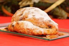 Τα Χριστούγεννα το γερμανικό κέικ φρούτων Στοκ Φωτογραφία
