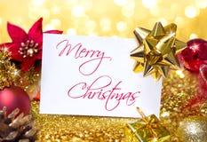 Τα Χριστούγεννα χαιρετισμού με ακτινοβολούν στοκ φωτογραφία