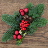 τα Χριστούγεννα διακοσμούν τις φρέσκες βασικές ιδέες διακοσμήσεων Στοκ φωτογραφία με δικαίωμα ελεύθερης χρήσης