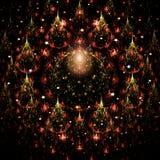 Τα Χριστούγεννα fractal τα δέντρα Στοκ φωτογραφίες με δικαίωμα ελεύθερης χρήσης