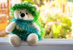 Τα Χριστούγεννα Teddy αντέχουν, τα νέα Χριστούγεννα Teddy έτους αντέχουν με το διάστημα αντιγράφων Στοκ φωτογραφίες με δικαίωμα ελεύθερης χρήσης
