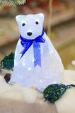 Τα Χριστούγεννα teddy αντέχουν Στοκ Φωτογραφίες