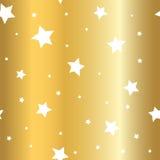 Τα χρυσά κινούμενα σχέδια υποβάθρου αστεριών ακτινοβολούν λευκό ελεύθερη απεικόνιση δικαιώματος