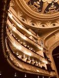 Τα χρυσά μπαλκόνια της όπερας Kyiv - KYIV - ΟΥΚΡΑΝΊΑ στοκ εικόνα