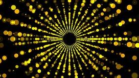 Τα χρυσά μόρια ανοίγουν τη στρέβλωση, που κινείται στο διάστημα και το χρόνο, διαστρέβλωση του διαστημικού, τρισδιάστατου δίνοντα απεικόνιση αποθεμάτων