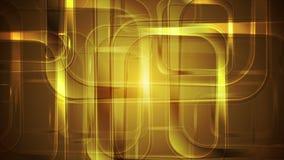 Τα χρυσά στιλπνά τετράγωνα αφαιρούν το γεωμετρικό σχέδιο κινήσεων ελεύθερη απεικόνιση δικαιώματος