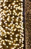 Τα χρυσά φω'τα bokeh αφηρημένη ανασκόπηση Στοκ εικόνα με δικαίωμα ελεύθερης χρήσης