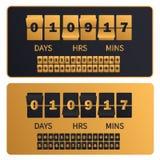 Τα χρυσά ψηφία ρολογιών αντίστροφης μέτρησης πολυτέλειας επιβιβάζονται στο νέο χρονόμετρο πώλησης έτους, Χριστουγέννων ή αγορών Π ελεύθερη απεικόνιση δικαιώματος