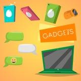 τα χρώματα θα μπορούσαν διαφορετικά εμβλήματα διαμορφώνουν logotypes το διάνυσμα χρήσης αντικειμένων υπολογιστής και τηλέφωνα στοκ φωτογραφία με δικαίωμα ελεύθερης χρήσης