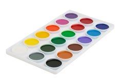 τα χρώματα κιβωτίων που τίθενται το watercolor Στοκ φωτογραφία με δικαίωμα ελεύθερης χρήσης